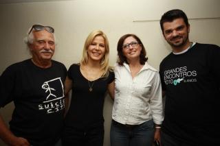 Zé Nogueira (Rádio Eldorado), Paula, Bia e Bruno, do Shopping Anália Franco