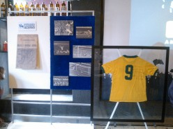 A homenagem ao título foi com a capa do Estadão após a final contra o Uruguai e com a camisa que o Tostão utilizou.