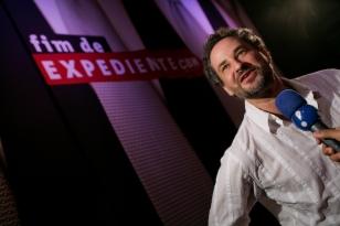 Dan Stulbach em evento de aniversário de 1 ano do Programa Fim de Expediente, da Rádio CBN de São Paulo