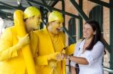 A faixa amarela ganhou vida