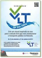 Campanha publicitário do VLT da Baixada Santista